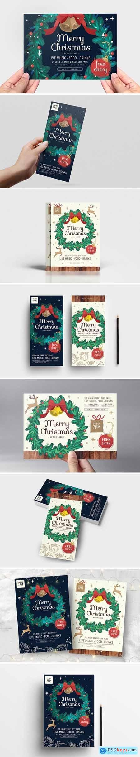 Christmas Wreath Flyer - Poster Templates