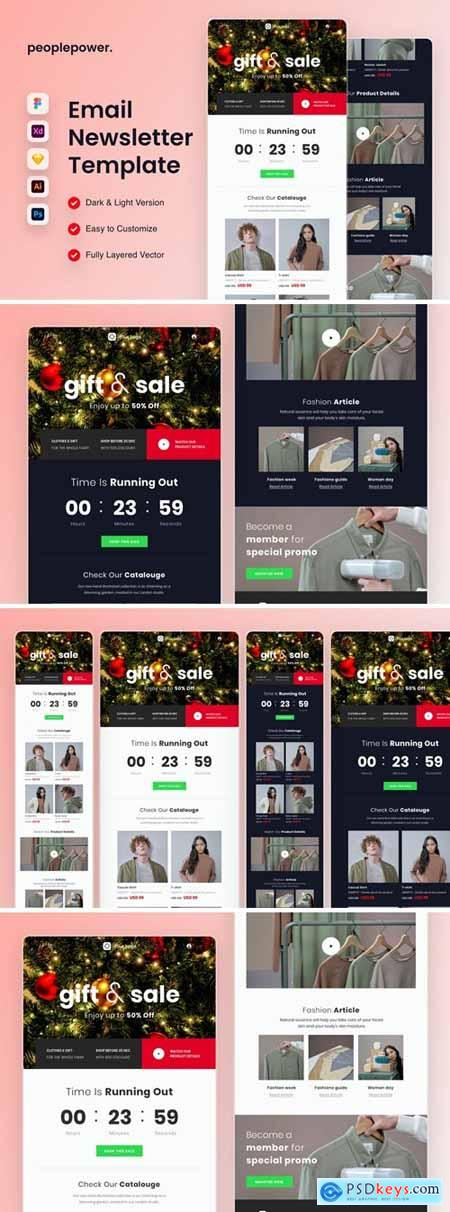 Christmas Sale Email Newsletter Template R4KDUMH