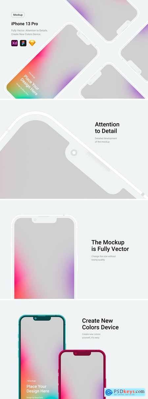 iPhone 13 Pro White Mockup