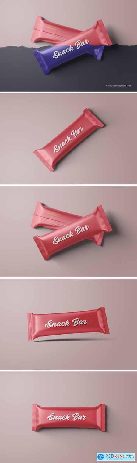 Snack Bar Packaging Mockups