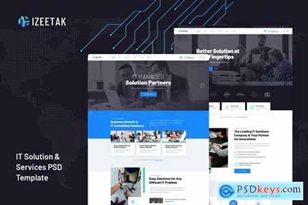 Izeetak - IT Solutions & Services PSD Template