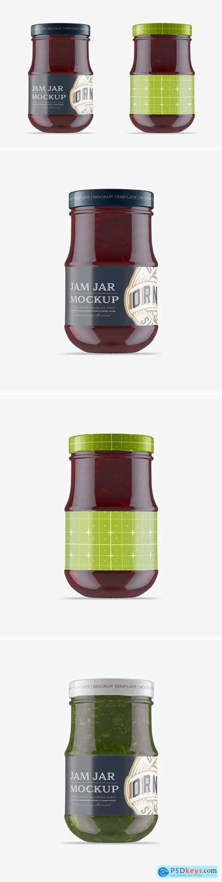 Raspberry Jam Jar Mockup