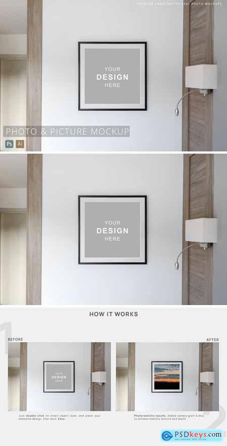 Photo & Picture Interior Frame Mockup Minimalistic