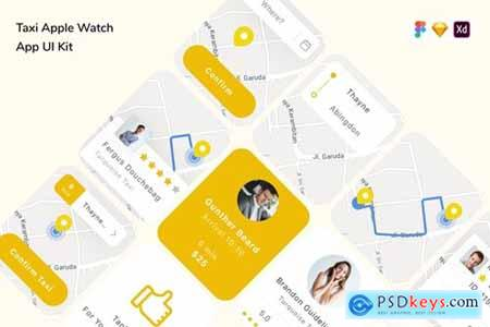 Taxi Apple Watch App UI Kit