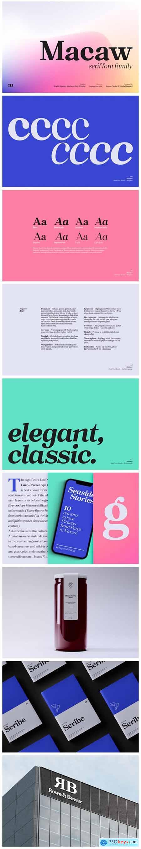 Macaw Font