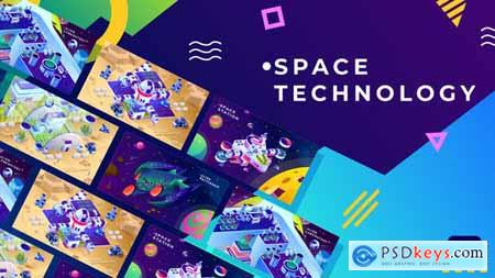 Space Technology Isometric Animation - After Effects 34038854