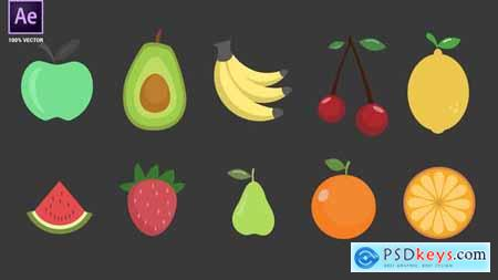 Fruits Icons Pack 34094961