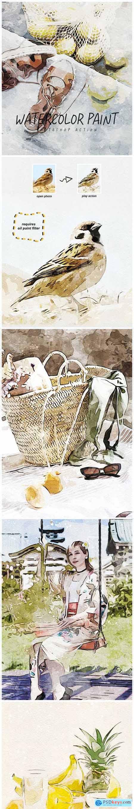 Watercolor Paint - Photoshop Action 33287400