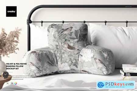 Reading Pillow Mockup Set 6494376