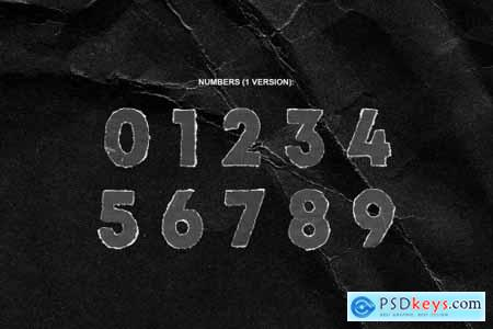 TORN PNG LETTERS PACK 6110497