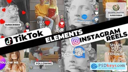 TikTok&Instagram Elements 34033625