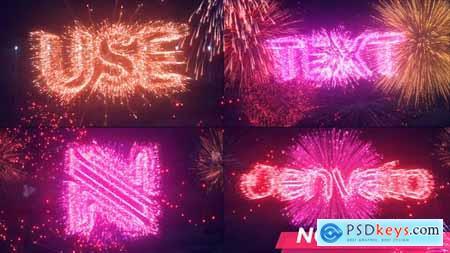Text & Logo Fireworks 34144833