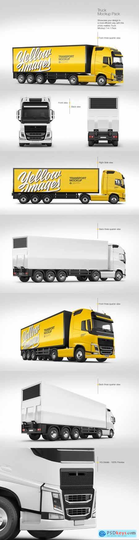 Truck Mockup Pack 87527