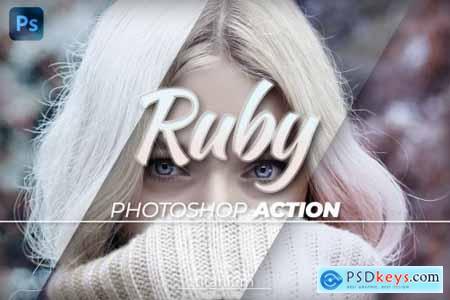 Titanium Ruby Coloring Photoshop Action