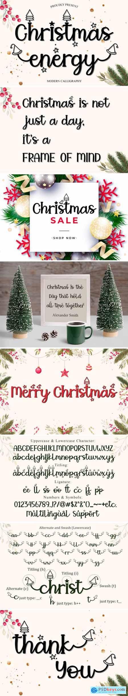 Christmas Energy Font