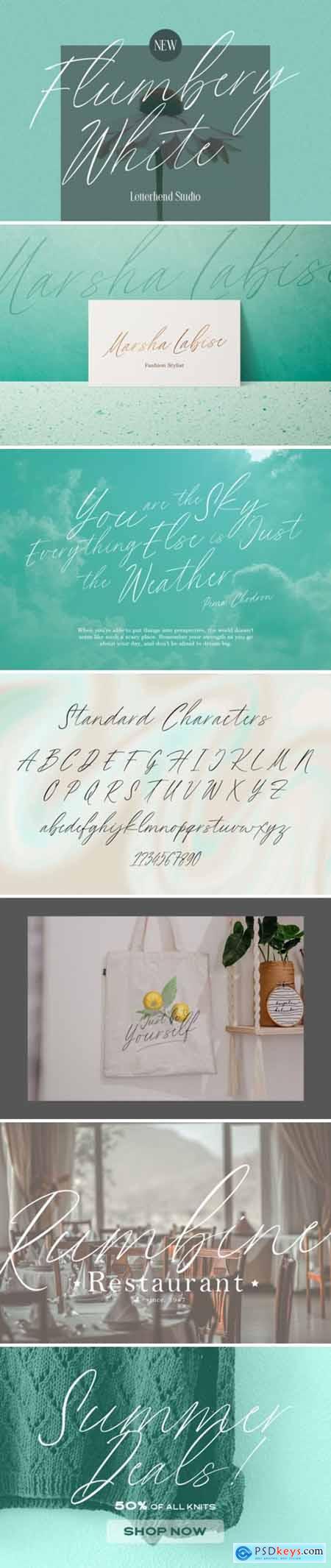 Flumbery White Font