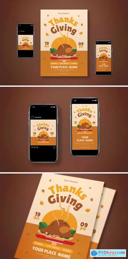 Thanksgiving Flyer Set190