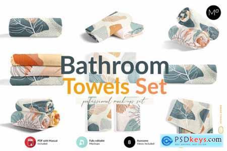 Bathroom Towels Set Mock-ups 6045697
