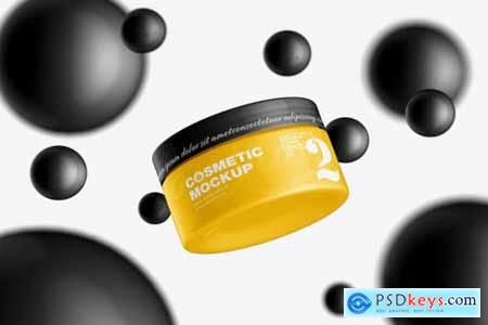 Cream Cosmetic Jar Mockup