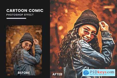 Cartoon Comic Book Photoshop Effect