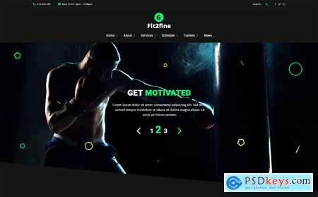 Gym Fitness Bodybuilding PSD Template o181218