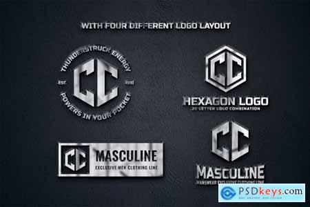 C (A-Z) Hexagon Monogram Logo Creator NMPP2SH