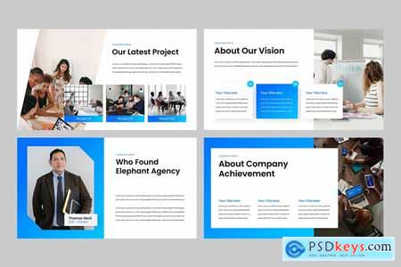 Company Profile Powerpoint, Keynote and Google Slides Template