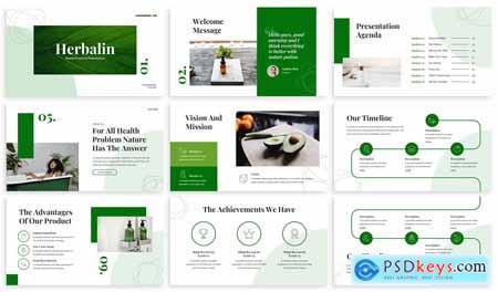 Herbalin - Nature Powerpoint Template 5GHNFFK