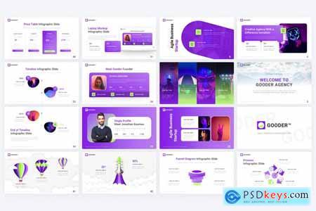 Gooder Multipurpose Modern PowerPoint Template BBR26XA