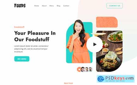Fast Food Delivery Restaurant PSD Template o176803